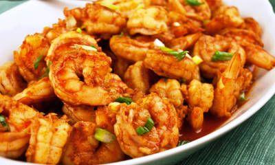 vimbu caterers garlic and ginger prawn