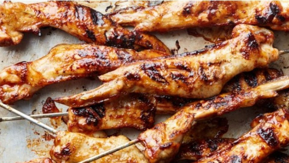 vimbu grilled chicken wing skewers