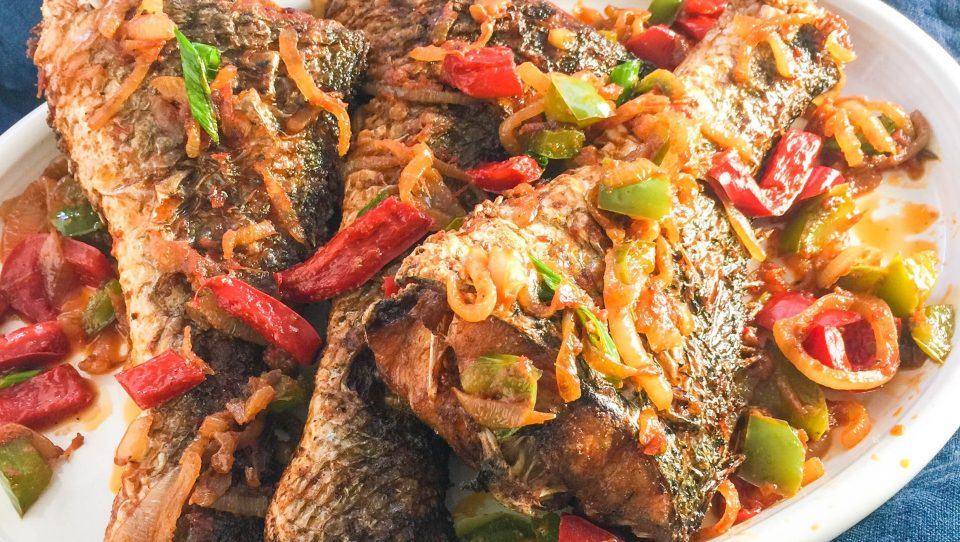 vimbu caterers peppered fried fish